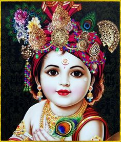 Baby Krishna Child Image