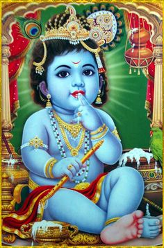 Childhood Images of Baby Krishna