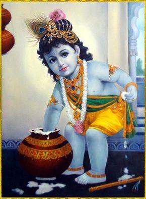 Cute Baby Krishna Bhagwan Images