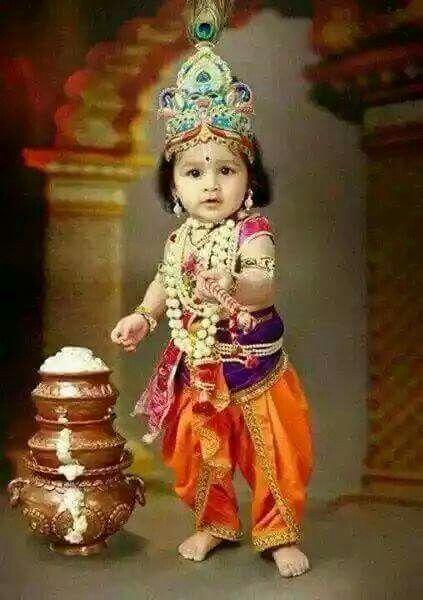 Cute Baby Krishna Bhagwan Little Image