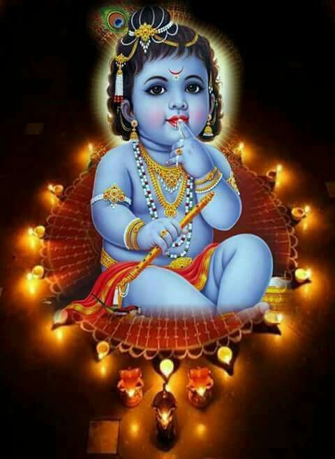 Cute Baby Krishna Wallpaper