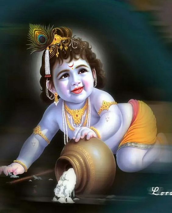 Cute Photos of Baby Krishna