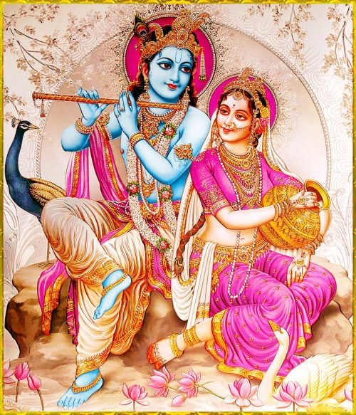 Lord Krishna and Radha Beautiful Image