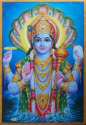 Bhagwan Vishnu Golden Frame Images Pic