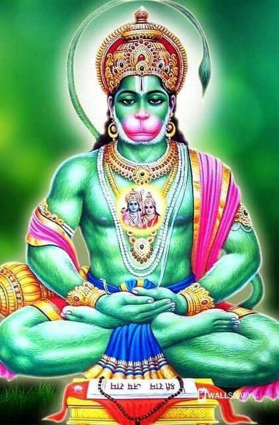 Green Hanuman Ji Wallpaper for Android Mobile
