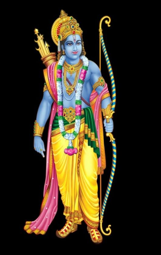 Lord Bhagwan Rama Images with Black Background
