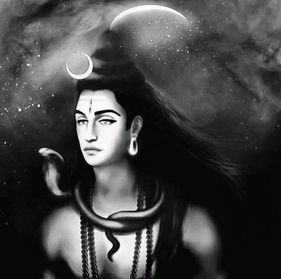 Lord Shiv Black and White Image Pics