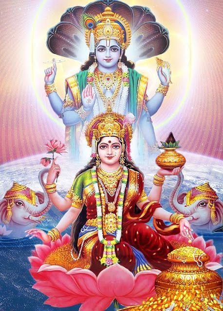 Mata Laxmi with Vishnu Ji ImagesMata Laxmi with Vishnu Ji Images