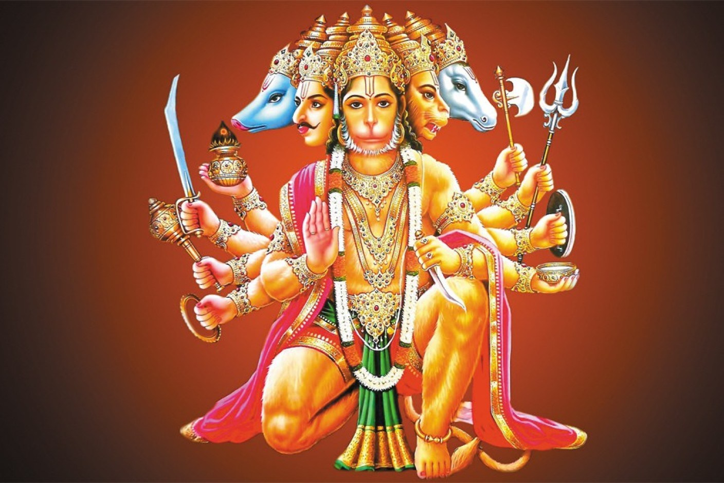 Panchmukhi God Hanuman Ji Photos HD
