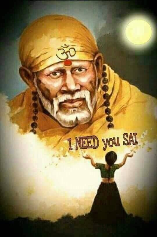Sai Baba Image with Beautiful Quote