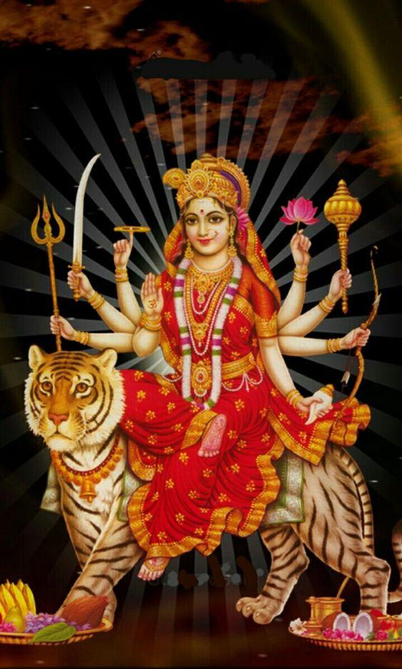 Durga Mata Wallpaper of Sherawali Maa Bhawani Aadishakti