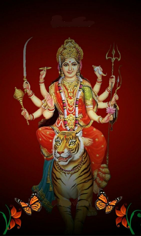 Wallpaper Maa Durga Hindu Goddess
